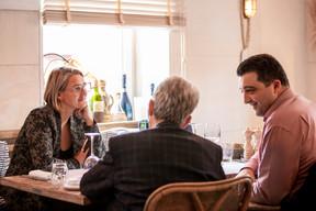 Caroline Lamboley (Lamboley Executive Search), Christian Weill (MCW Conseil) et Stéphane Lia (Inukshuk Coaching & Formation) ((Photo: Julian Pierrot / Maison Moderne))
