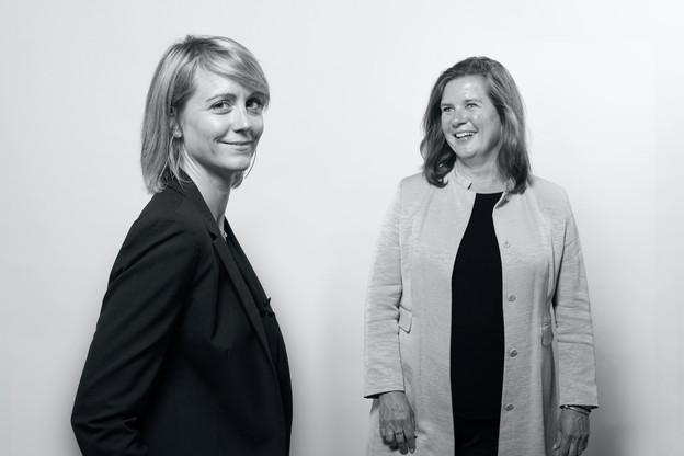 Melanie Delannoy (à gauche) terminera son intérim à la tête du Paperjam + Delano Club cet été. GeraldineKnudson, CEOde Maison Moderne, est déjà en quête du profil idéal pour la remplacer. (Photo: Maison Moderne)