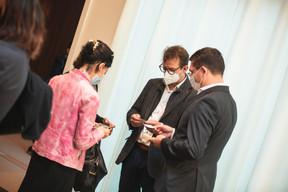 Guido Messerich, Christian M. Schneider (Schneider  IT Management) et Anna Hakobyan (Pyxis) ((Photo: Marc Blasius, Léo Biewer/Maison Moderne))