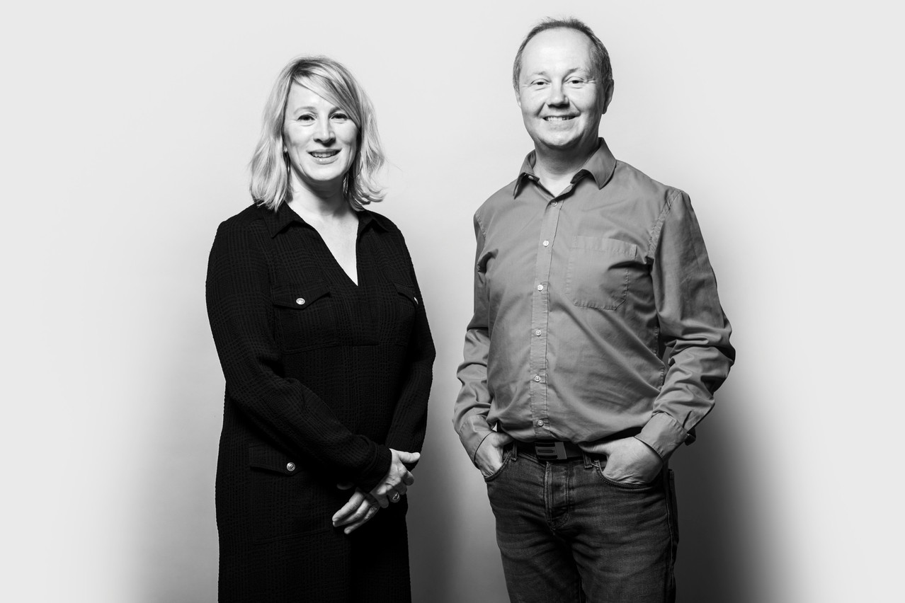 Esther Pierard and Artur Sosna, the newest additions to the Paperjam + Delano Club team Photo: Maison Moderne