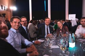 George Berna (Koba), Marc Berna (Vertumnus), Nicolas Aerts (Allia Insurance Brokers Luxembourg), Anne Harles (Alavita) (Photo: Simon Verjus/Maison Moderne)