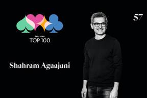 Shahram Agaajani, 57e du Paperjam Top 100. ((Illustration: Maison Moderne))