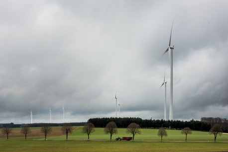 Les sept éoliennes du nouveau parc éolien de Wincrange constituent le plus puissant parc éolien du pays et permettront d'alimenter 30.000personnes en électricité. (Photo: Nader Ghavami)