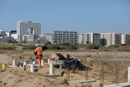 Le parc de Gasperich, qui sera le poumon vert de la Cloche d'Or, est actuellement en cours de réalisation. (Photo: Matic Zorman/Maison Moderne)