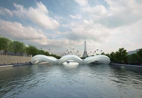 AZC, pont-trampoline à Paris, 2012 ((Illustration: AZC))