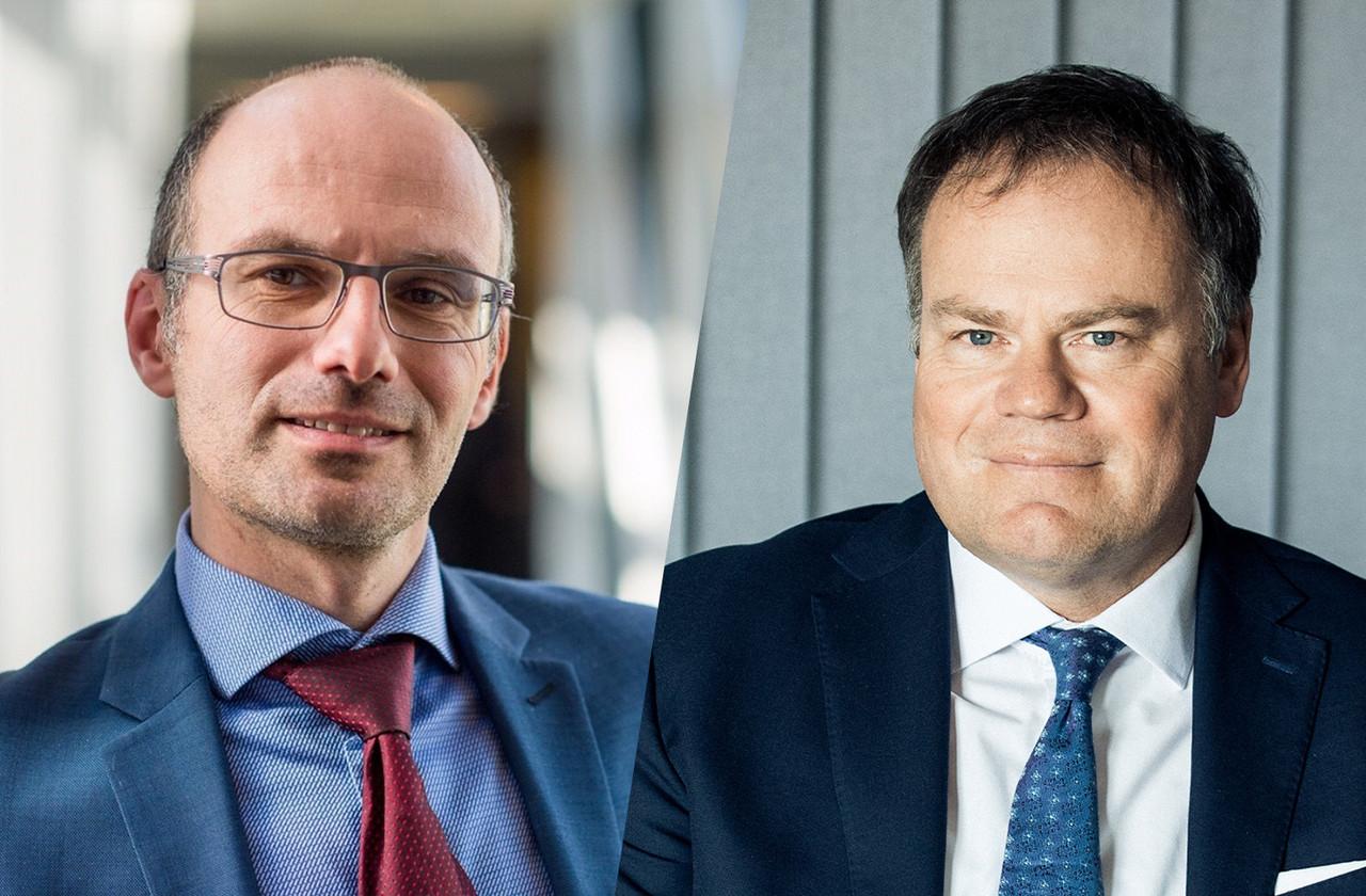 YvanPirenne (à gauche) etGérardHoffmann (à droite) se félicitent de la qualité de leur coopération. (Photo: Degroof Petercam & Telindus Luxembourg)