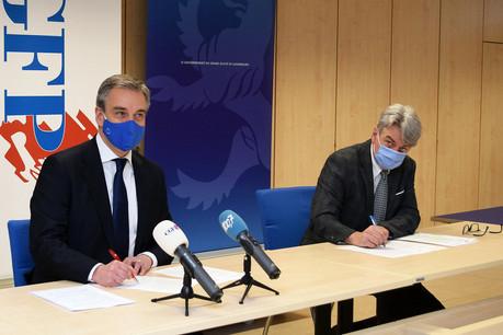 Claude Meisch et Romain Wolff se sont mis d'accord sur le recrutement dans les lycées. (Photo: CGFP)