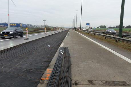 De longs travaux avaient été nécessaires côté belge pour rénover l'autoroute et créer une bande de covoiturage. (Photo: Sofico / Archives)