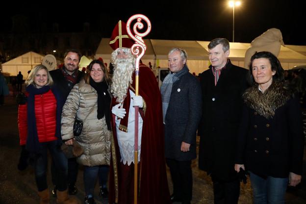 """Le Luxembourg était l'invité d'honneur des fêtes de Saint-Nicolas, ce week-end à Nancy. Occasion de remettre quelques points sur les """"i"""". (Photo: compte Twitter du maire de Nancy, Laurent Hénart)"""