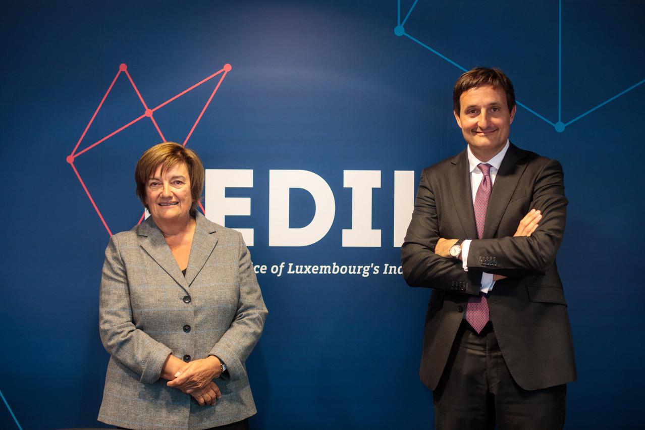 C'est donc après un mandat de trois ans que Nicolas Buck cède les rênes de la Fédération des industriels luxembourgeois à la patronne du groupe Alipa.  (Photo: Matic Zorman)