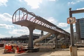 Que deviendra ensuite la passerelle Sud? «Les alternatives proposées restent en place jusqu'en septembre2021», répondent les CFL. ((Photo: Romain Gamba/Maison Moderne))