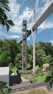 La tour d'ascenseur sera distante de 4m du pylône. ((Illustration: STDM-Ney & Partners))