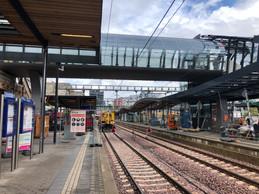 Elle est déjà en place au-dessus des voies de la gare de la capitale. ((Photo: Paperjam))