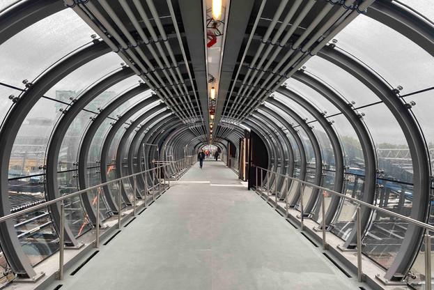 La passerelle nord est désormais ouverte au public après quatre mois de chantier. Il reste encore les finitions à mener à bien. (Photo: Paperjam)