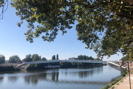 Nouvelle date pour la passerelle de l'Europe à Thionville: décembre. (Photo: Paperjam)