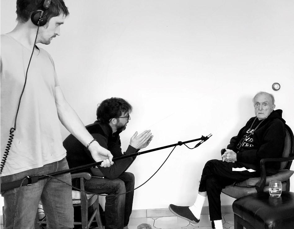 PatrickMuller a interviewé Alvin Lucier à New York pour cette exposition. (Photo: Patrick Muller)