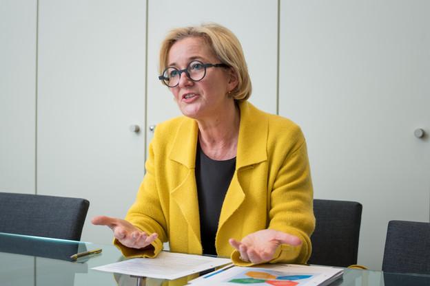 La ministre de la Santé, Paulette Lenert, a assuré, mercredi 26 février, que, si une entreprise décide de placer ses employés en quarantaine, elle devra en supporter elle-même le coût. (Photo: Nader Ghavami / archives Paperjam)