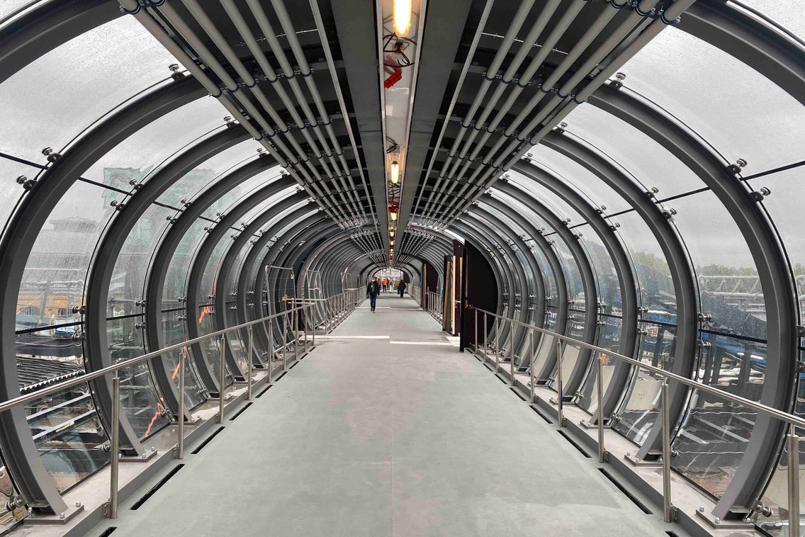 The footbridge is now open to the public after four months of work. The finishing touches still need to be done. (Photo: Paperjam)