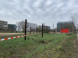 L'aire de jeu du Kirchberg a été fermée. ((Photo: Paperjam))