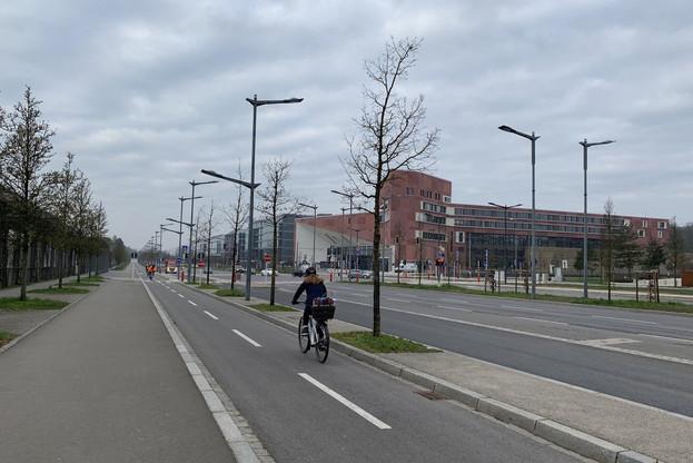 Pour une fois, aucun embouteillage, et des stations Vel'oh pleines. (Photo: Paperjam)