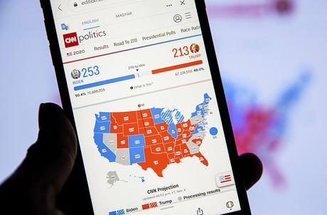 Le candidat démocrate a pris l'avantage dans plusieurs États-clés ce vendredi. (Photo: Shutterstock)
