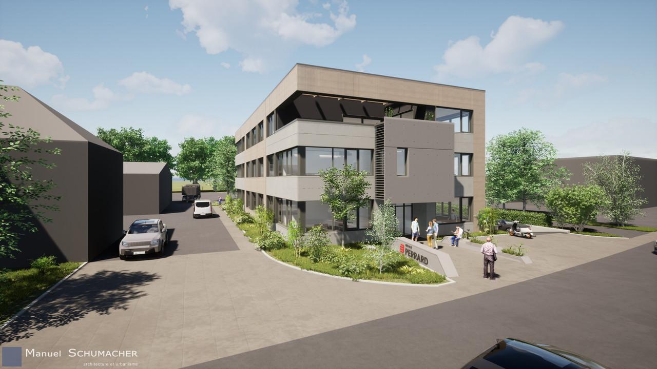 Situé à Senningerberg, le bâtiment est très performant d'un point de vue énergétique. (Illustration: Manuel Schumacher Architecture et Urbanisme)