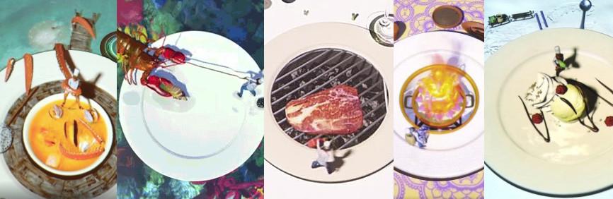 Homard, steak ou desserts, Le Petit Chef s'attaque à tous les services du menu! Le Petit Chef