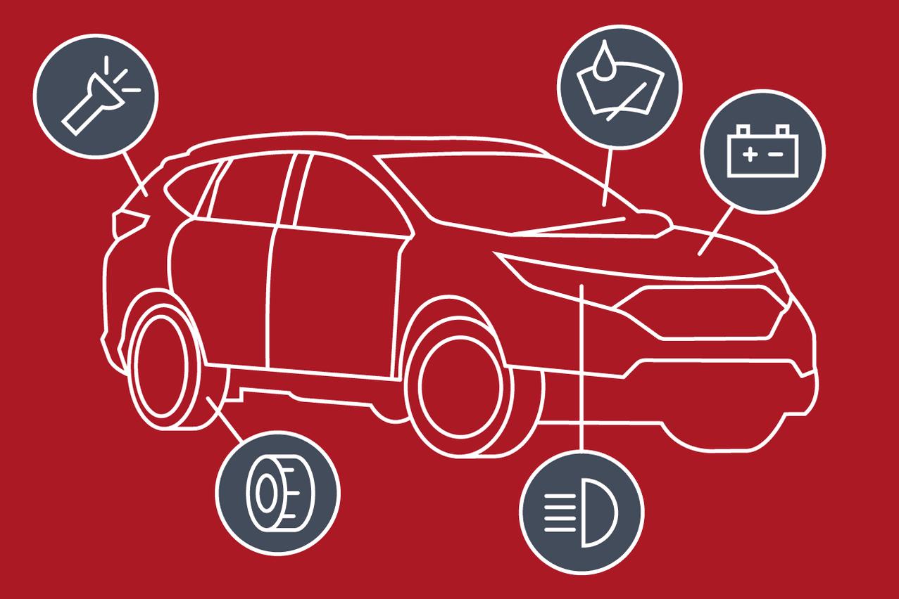 Inspectez tous les points de contrôles de votre véhicule. Maison Moderne