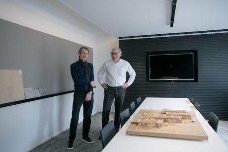 Cyril Carrée et MichelPetit ont emménagé avec leur équipe dans de nouveaux bureaux à Luxembourg. (Photo: Matic Zorman/Maison Moderne)
