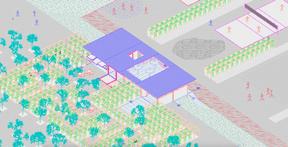 À côté de la maison, le terrain peut être transformé en zone d'activités en plein air. ((Illustration: Petite Maison))