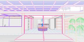À l'intérieur, les espaces sont largement en connexion avec l'extérieur. ((Illustration: Petite Maison))