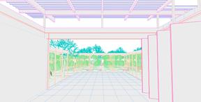 Un patio pourra être aménagé grâce aux plantations temporaires. ((Illustration: Petite Maison))