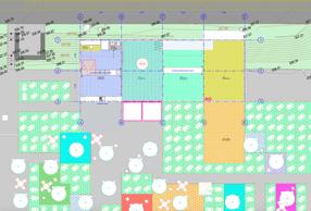 Plan de l'aménagement. ((Illustration: Petite Maison))