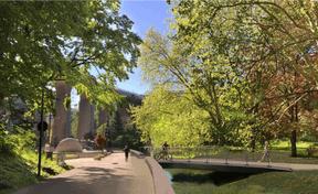Une nouvelle promenade sera aménagée le long du cours d'eau. ((Illustration: Ville de Luxembourg, Förder Landschaftsarchitekten, TR-Engineering))