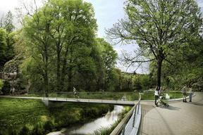 Les espaces pourront être partagés entre les promeneurs et les sportifs. ((Illustration: Ville de Luxembourg, Förder Landschaftsarchitekten, TR-Engineering))