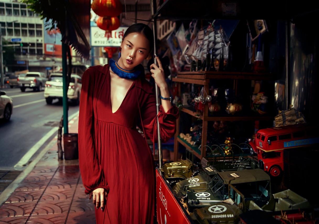 Lynn Theisen a l'habitude de voyager à travers le monde pour y réaliser des photos, notamment de mode, comme celle-ci. (Photo: Lynn Theisen)