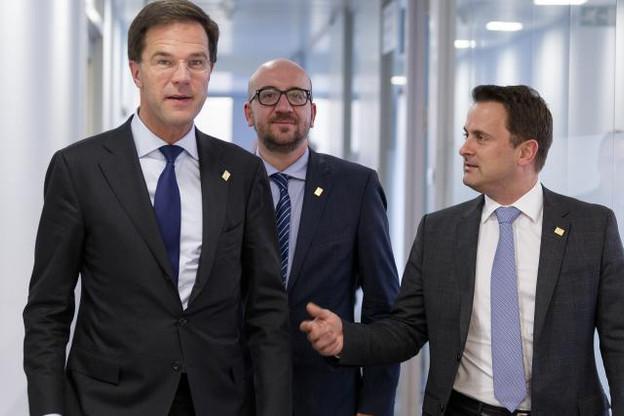 Les trois pays fondateurs du Benelux partagent aussi une même couleur politique à la tête de leur gouvernement respectif. (Photo: SIP)
