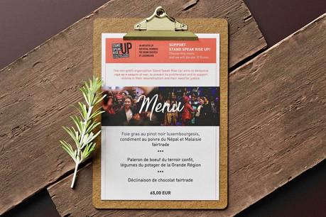 Un menu faisant appel à des produits locaux, équitables et de saison se met au service de la cause Stand Speak Rise Up! ,  dès cette semaine à l'hôtelMeliá Luxembourg du Kirchberg. (Photo: Stand Speak Rise Up!)