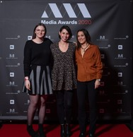 Madison Merra, Jennifer Caprasse et Amélie Decher (CK groupe) ((Photo: Nader Ghavami))