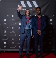 Luc Wagner et Fabien Madimba (Agence luxembourgeoise d'action culturelle asbl) ((Photo: Nader Ghavami))