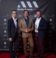 Kilian Bonnemberger, Pierre-Yves Lanneau Saint Léger (Vital Briefing) et Christophe Rahier (ING) ((Photo: Nader Ghavami))
