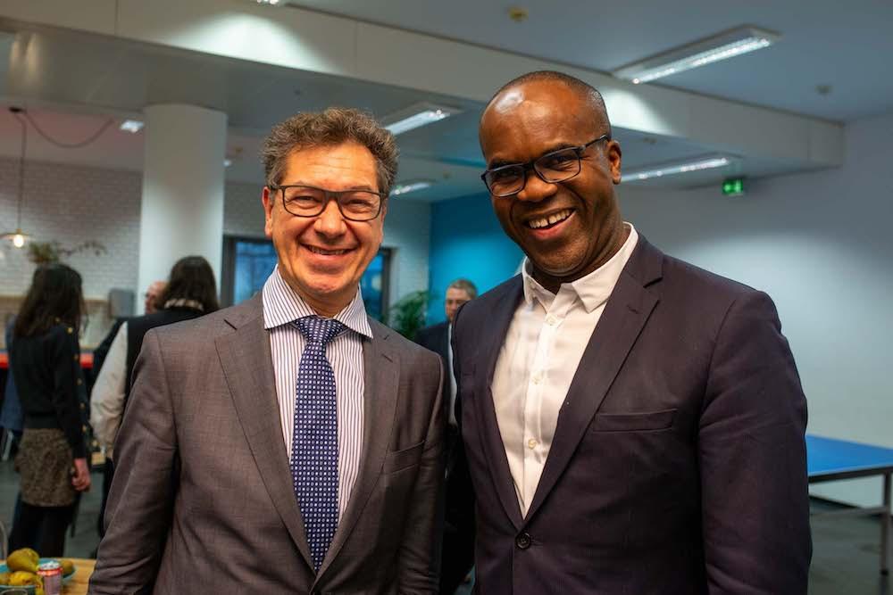 Le conseiller des Français de l'étranger, Bruno Théret, aux côtés du dirigeant de PICC et d'Exelop, ConstantOndo. (Photo: Firis/PICC)