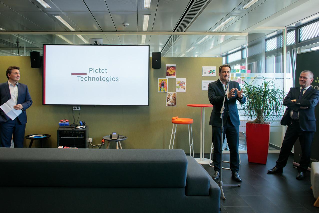 «Nous sommes passés, en trois ans d'existence, de zéro à 106 salariés aujourd'hui», confirme Vincent Eggen (à gauche), managing director de la filiale technologique du gestionnaire de fortune genevois Pictet. (Photo: Matic Zorman)
