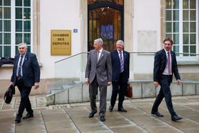 Les députés ADR au grand complet: Jeff Engelen, Fernand Kartheiser, Roy Reding et Fred Keup de gauche à droite. ((Photo: Romain Gamba/Maison Moderne))