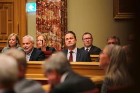 Le vice-Premier ministre Dan Kersch (LSAP) et le Premier ministre Xavier Bettel (DP). ((Photo: Romain Gamba/Maison Moderne))
