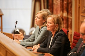 Les ministres Taina Bofferding (LSAP) et Paulette Lenert (LSAP). ((Photo: Romain Gamba/Maison Moderne))