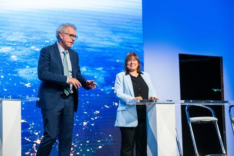 Lors de la conférence de l'Alfi, Pierre Gramegna et Corinne Lamesch ont relevé une opportunité à saisir pour les fonds: le futur produit paneuropéen de pension. (Photo: Keven Erickson)