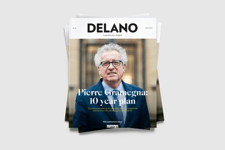 Le ministre des Finances, Pierre Gramegna, est en couverture du numéro de mars 2021 de Delano. (Photo: Maison Moderne)