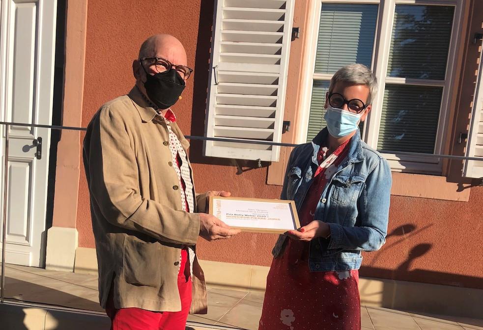 PierreJoris et SamTanson, la ministre de la Culture. (Photo: MCULT)