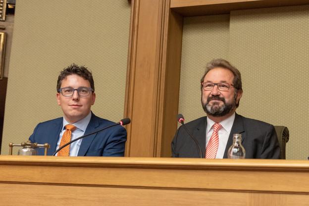 Le Piratepartei de Sven Clement et l'ADR de Gast Gibéryen ne collaboreront plus au sein d'un groupe technique. (Photo: Charles Caratini pour la Chambre des députés)